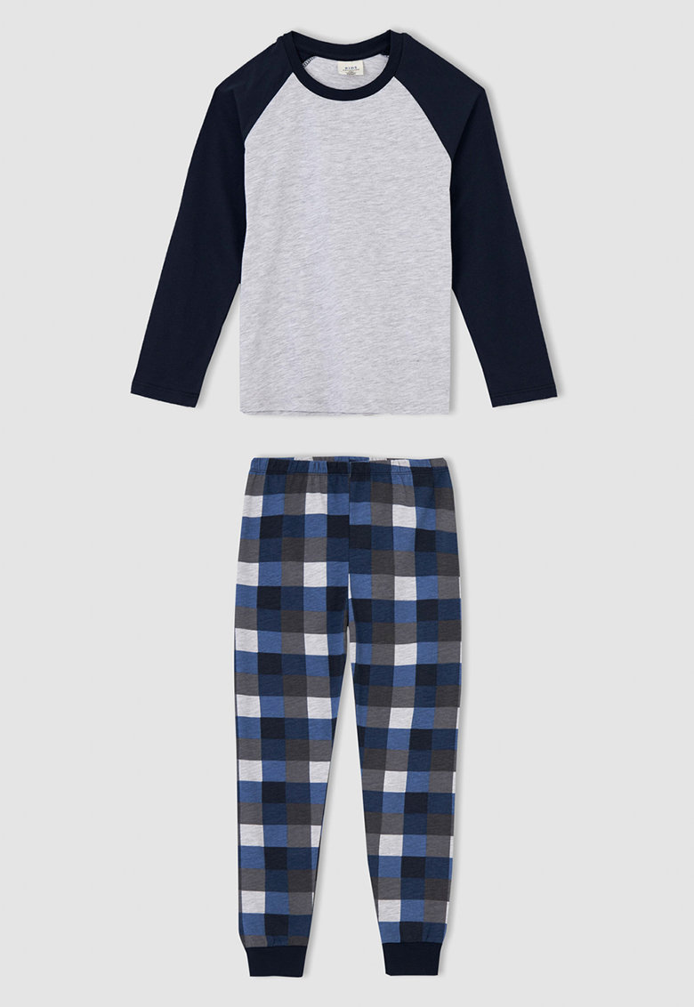 DeFacto Pijama cu pantaloni lungi si model in carouri