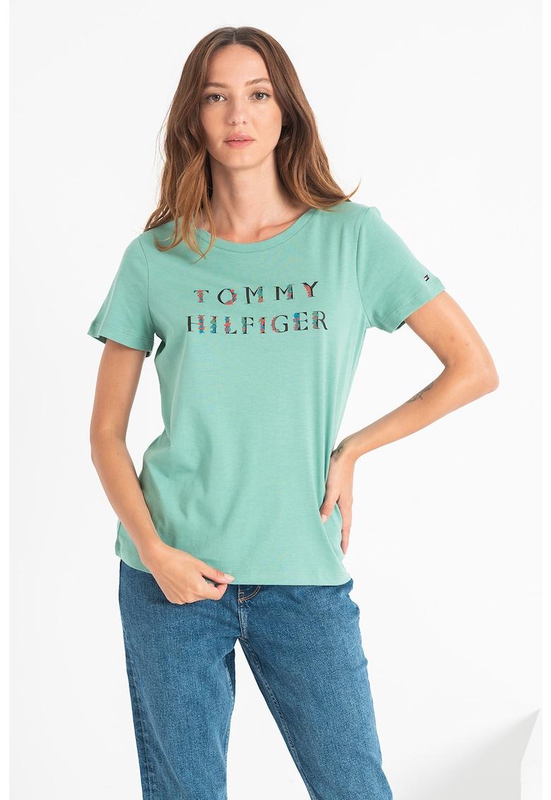 Tommy Hilfiger Tricou cu logo floral