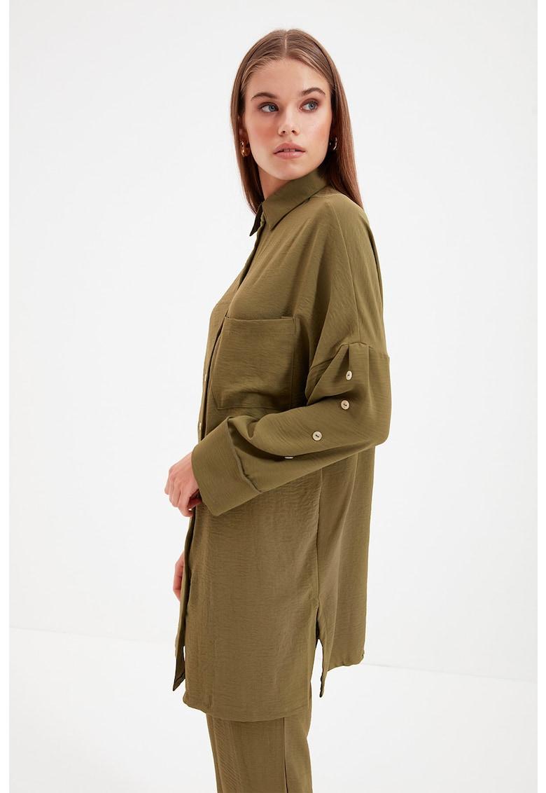 Set de pantaloni si camasa crop - 2 piese