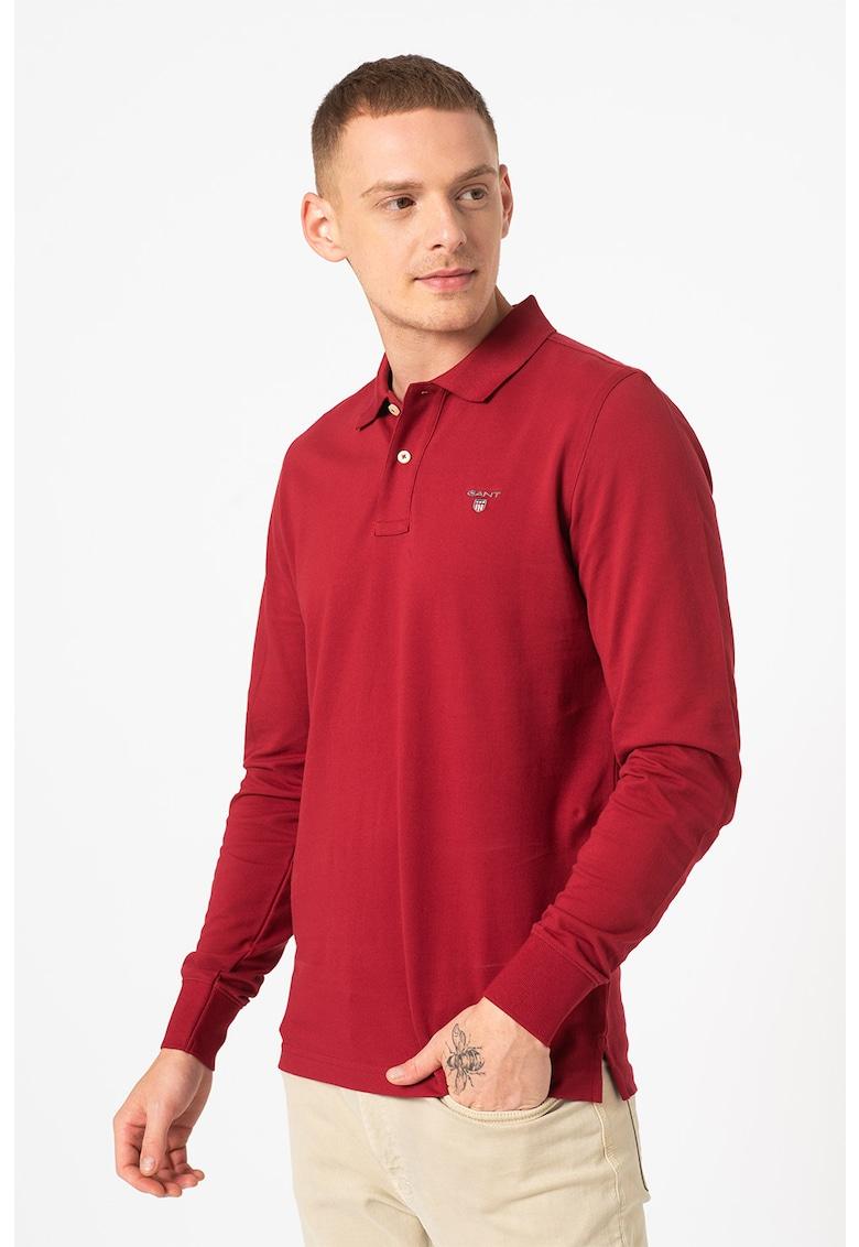Gant Bluza polo regular fit din material pique Rugger