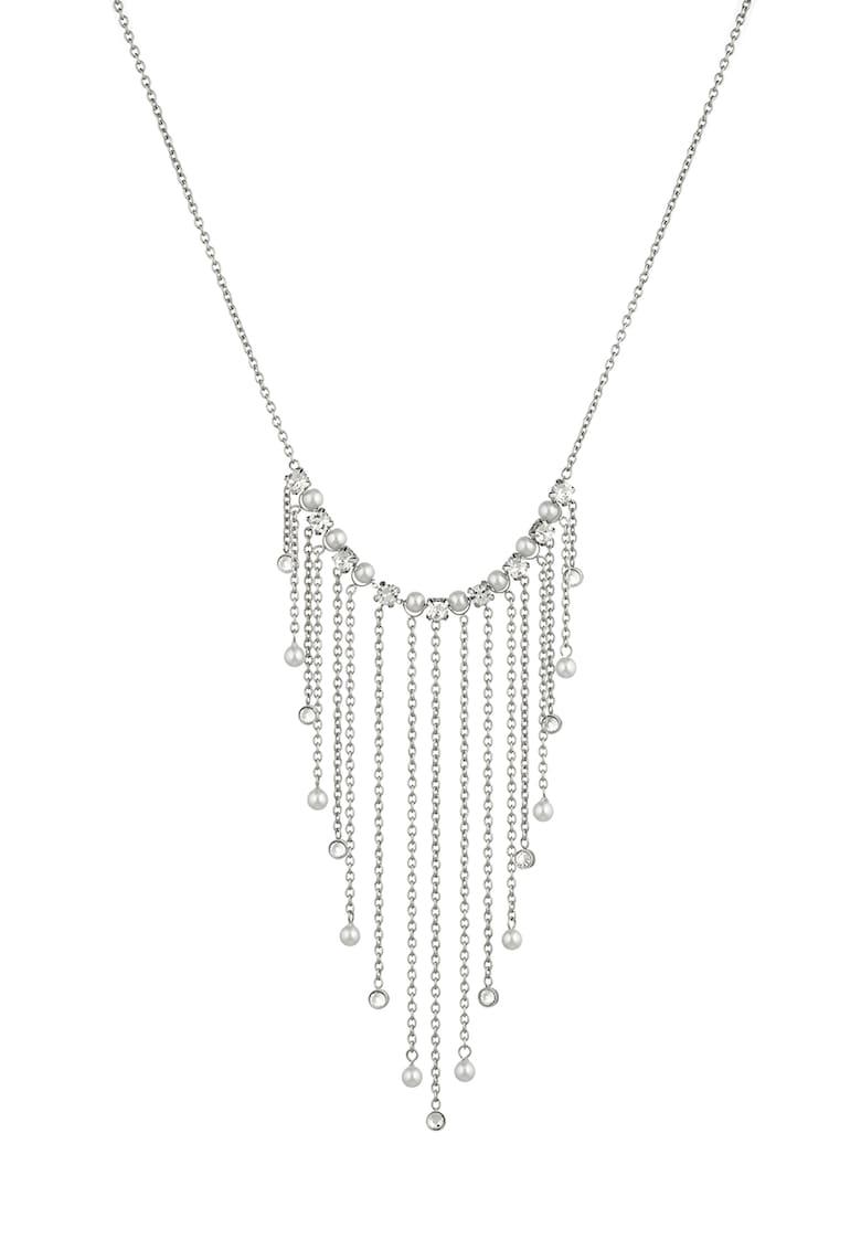 Colier din otel inoxidabil cu cristale si perle sintetice de la Liu Jo