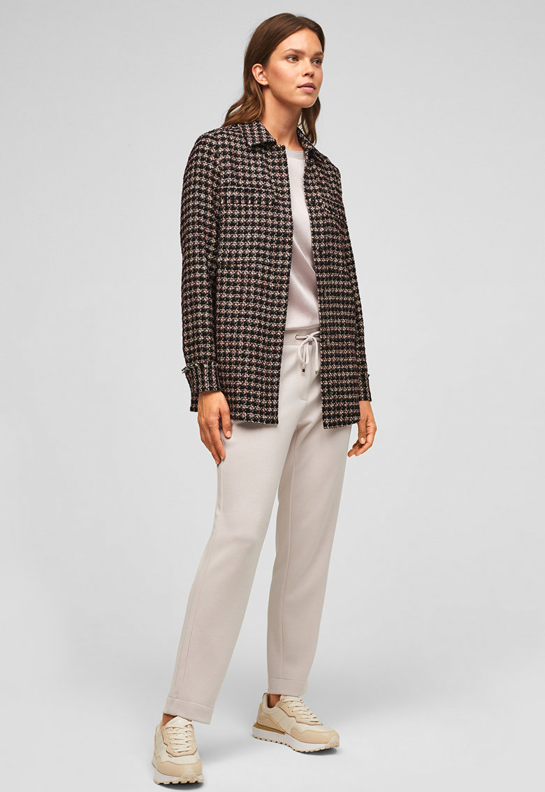 sOliver Sacou din material boucle cu model houndstooth