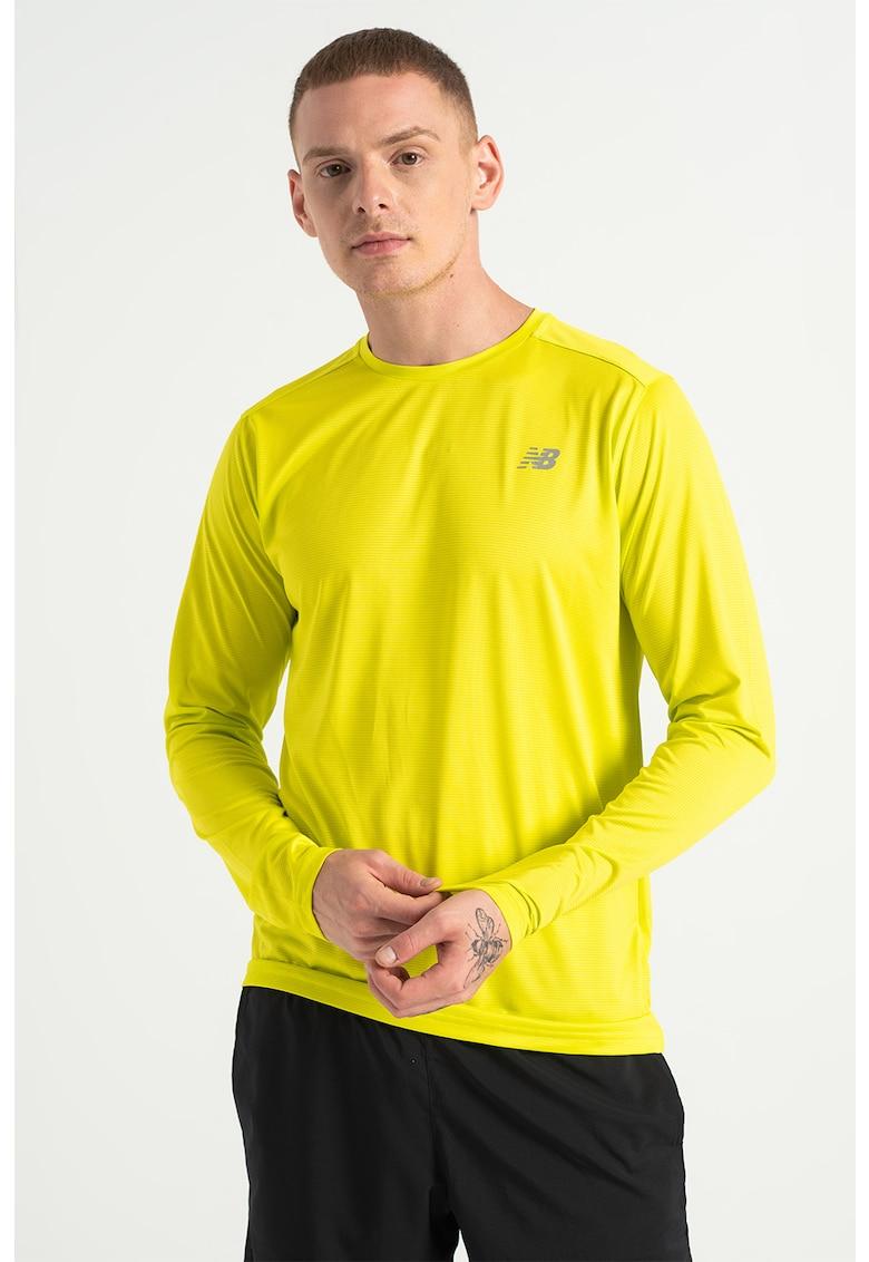 New Balance Bluza cu decolteu la baza gatului si imprimeu pentru alergare Accelerate