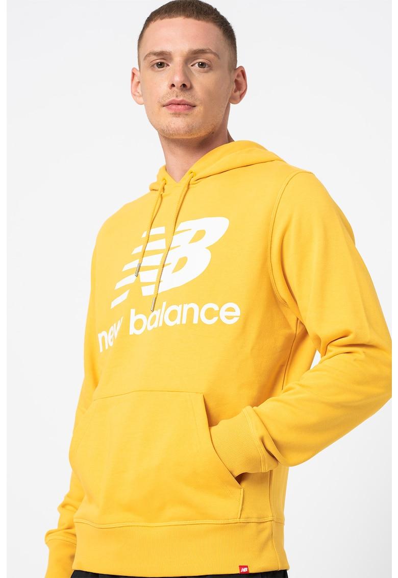 New Balance Hanorac cu buzunar kangaroo cu logo stantat Essentials