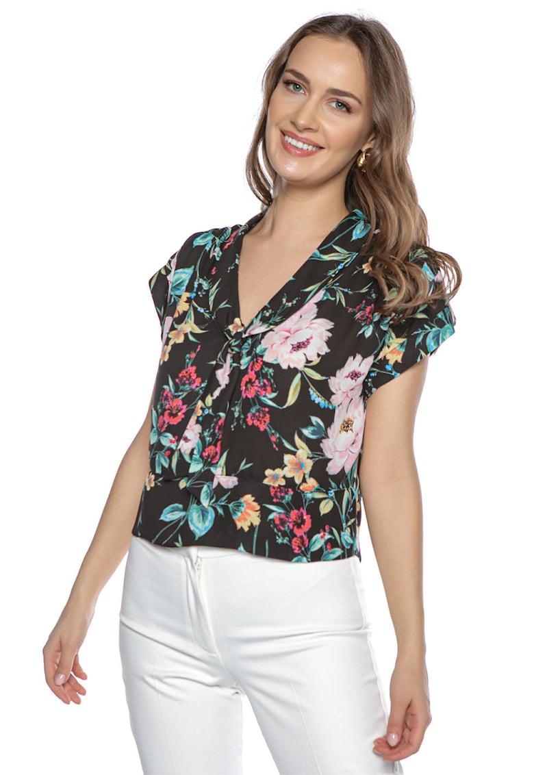 Miss One Bluza crop cu imprimeu floral
