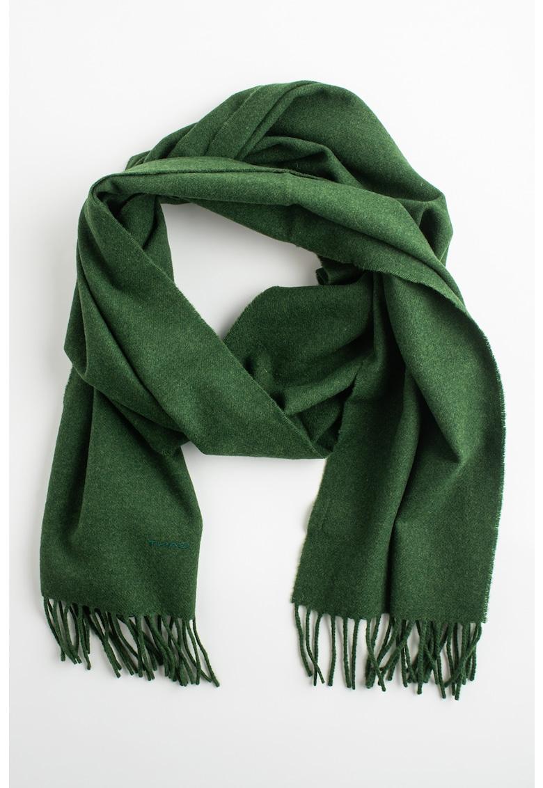 Gant Fular circular de lana virgina cu franjuri