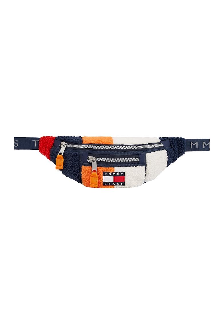 Tommy Jeans Borseta cu aspect texturat si design colorblock