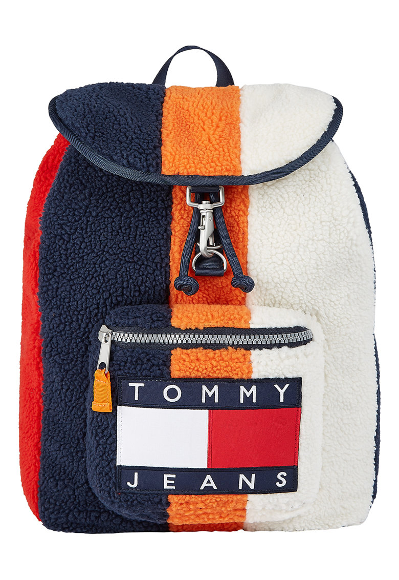 Tommy Jeans Rucsac colourblock din sherpa