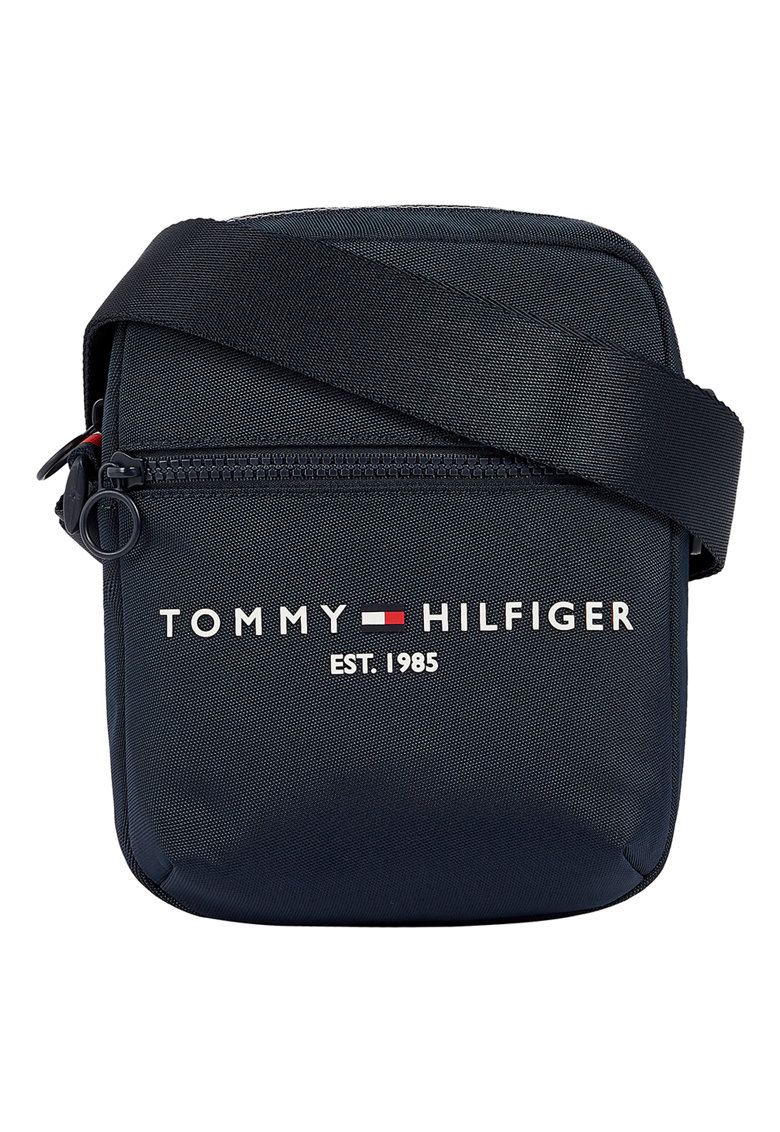Tommy Hilfiger Geanta crossbody mica cu imprimeu logo contrastant Established