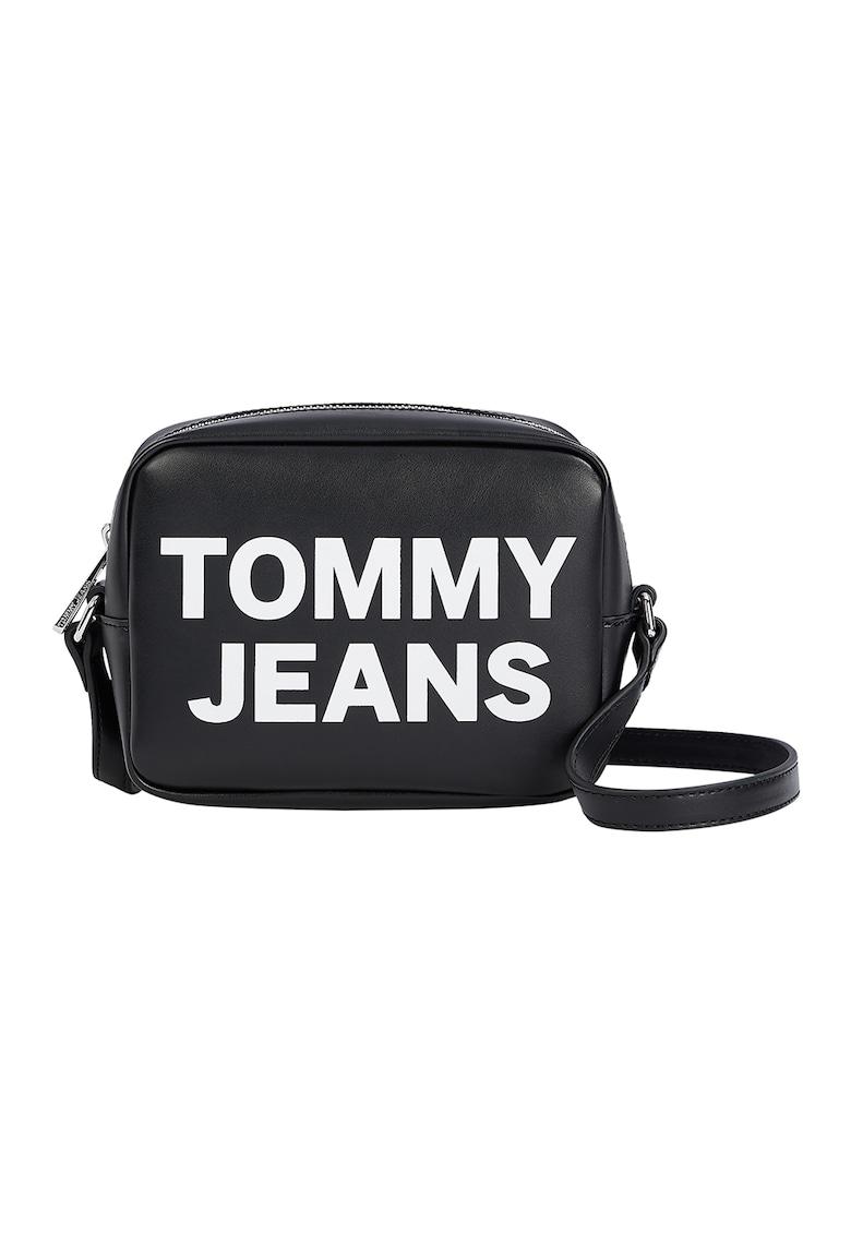 Tommy Jeans Geanta crossbody din piele ecologica cu imprimeu logo