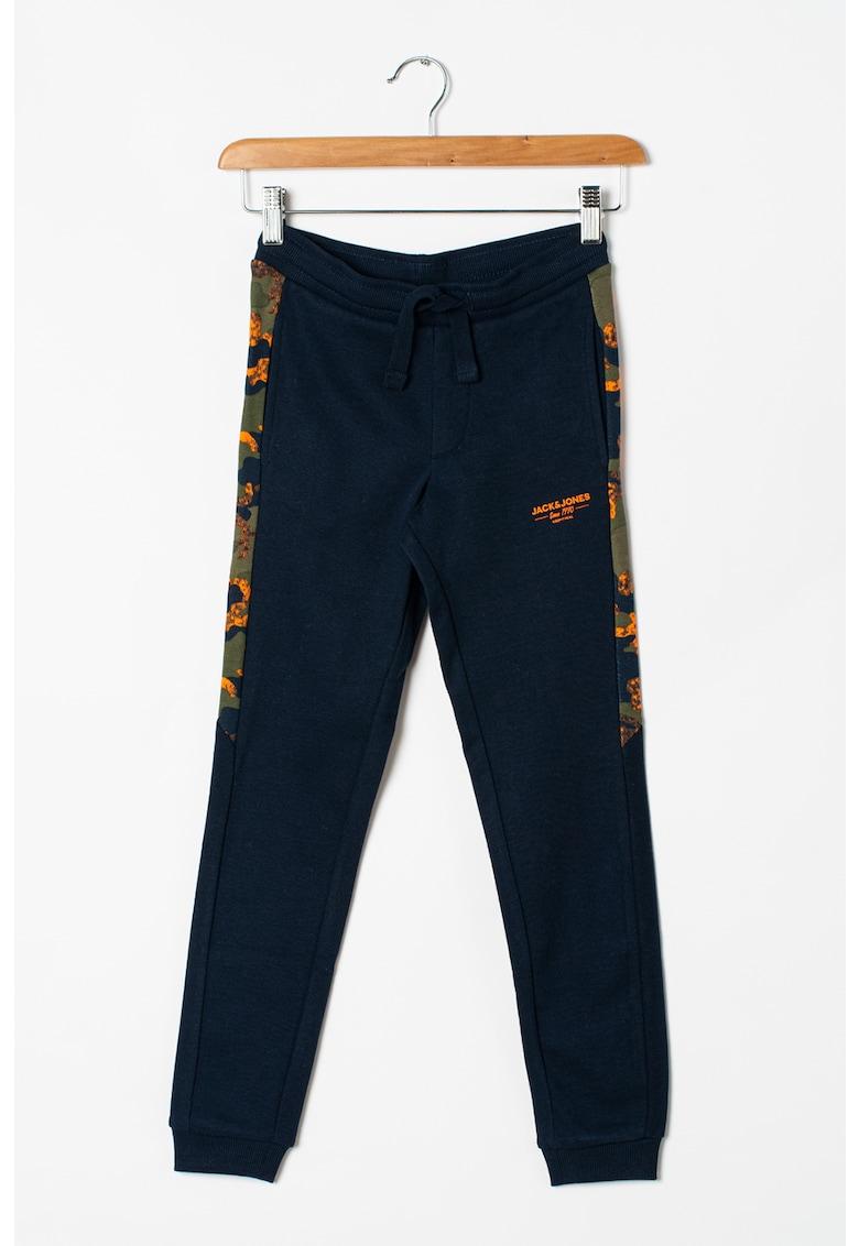Pantaloni sport conici cu benzi laterale contrastante Will