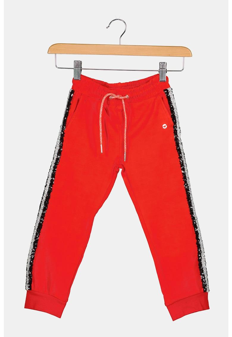 Original Marines Pantaloni sport cu aplicatii cu paiete de la FashionDays.ro