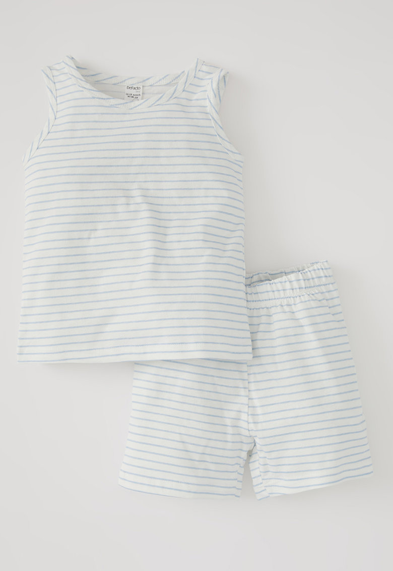Pijama scurta in dungi