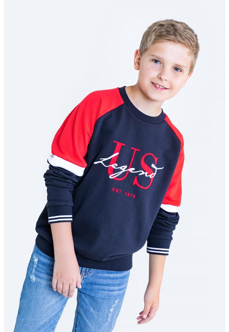 Bluza sport cu model colorblock  - decolteu la baza gatului si logo de la Big Star