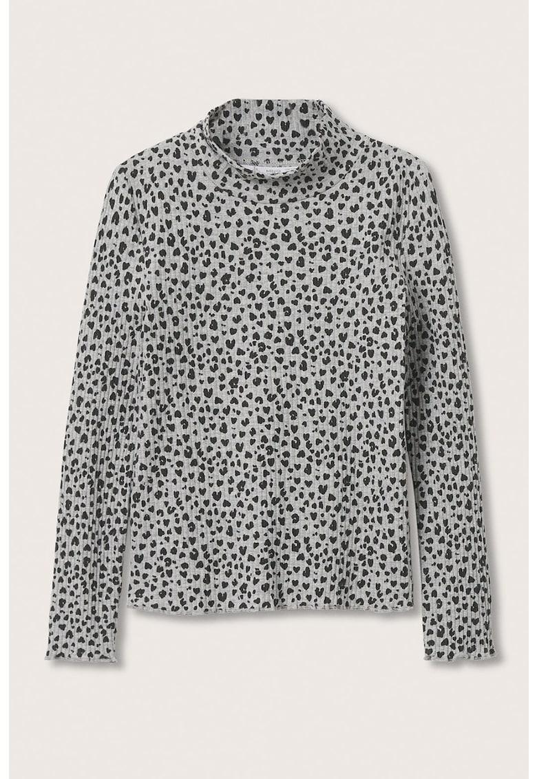 Bluza cu striatii si buline Turbopri de la Mango