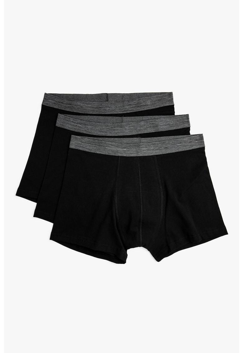 Set de boxeri cu banda elastica in talie - 3 perechi