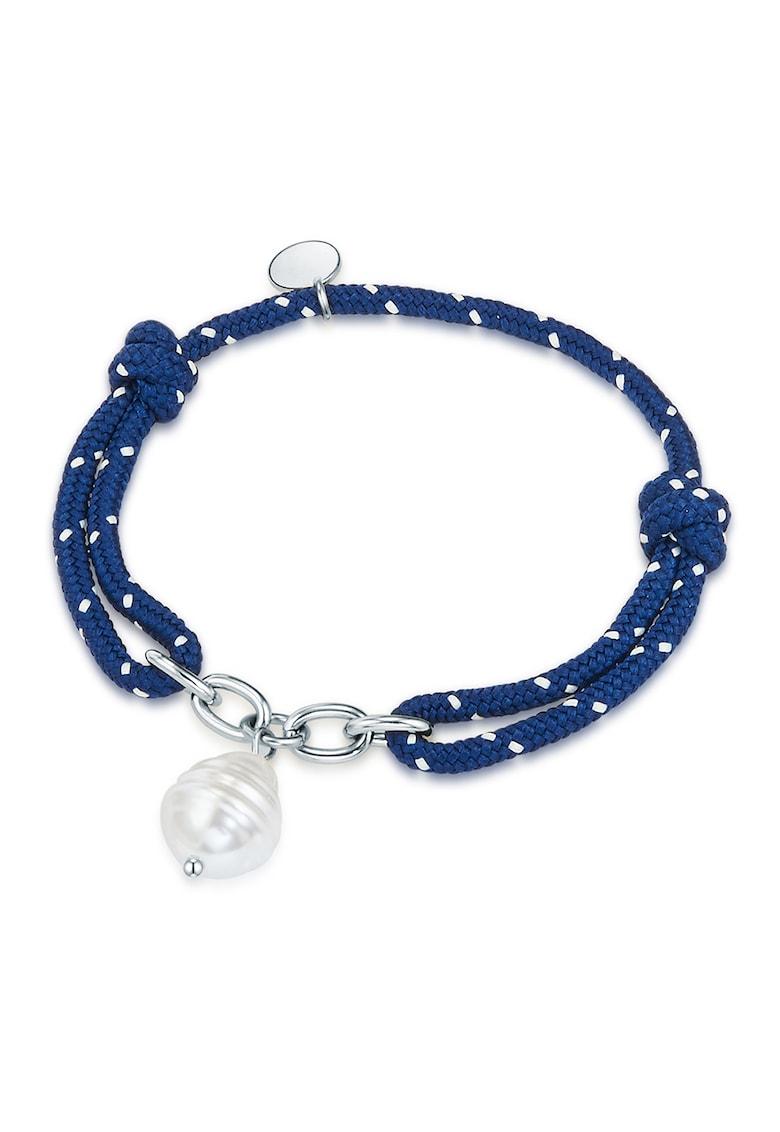 Bratara ajustabila decorata cu perle de apa dulce
