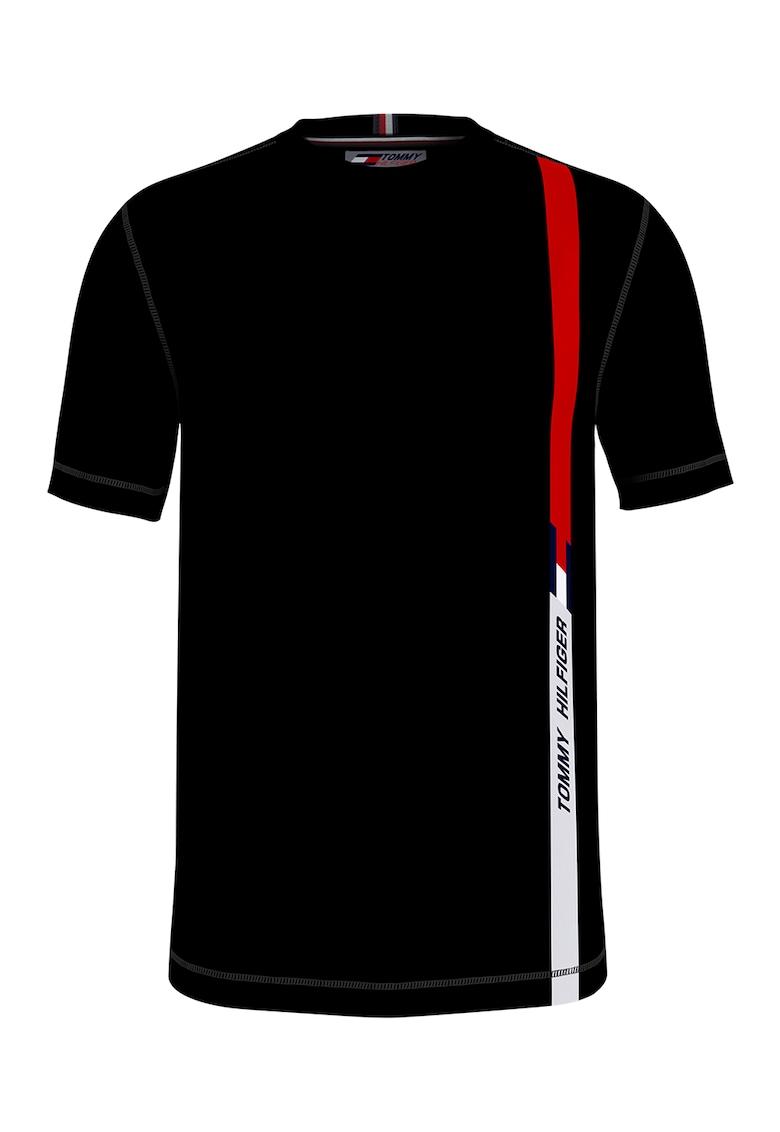 Tricou din bumbac organic cu imprimeu logo - pentru fitness Cool