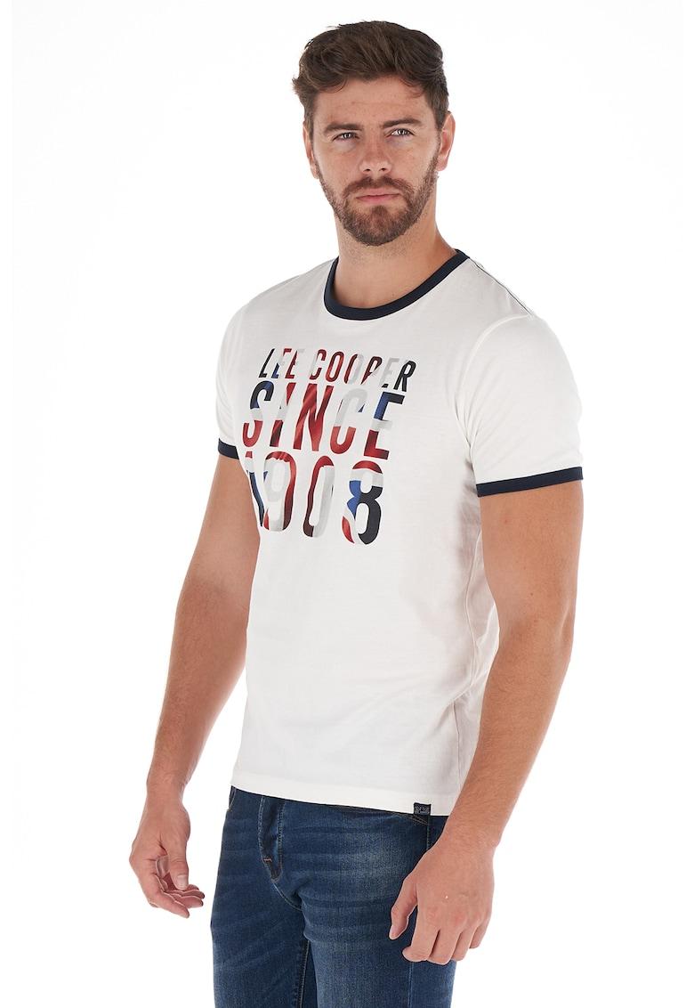 Tricou de bumbac cu imprimeu logo de la Lee Cooper