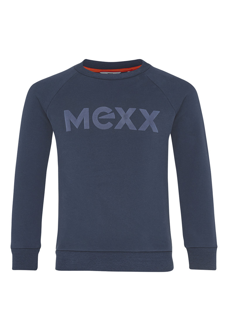 Bluza sport cu decolteu la baza gatului cu logo si maneci raglan de la Mexx