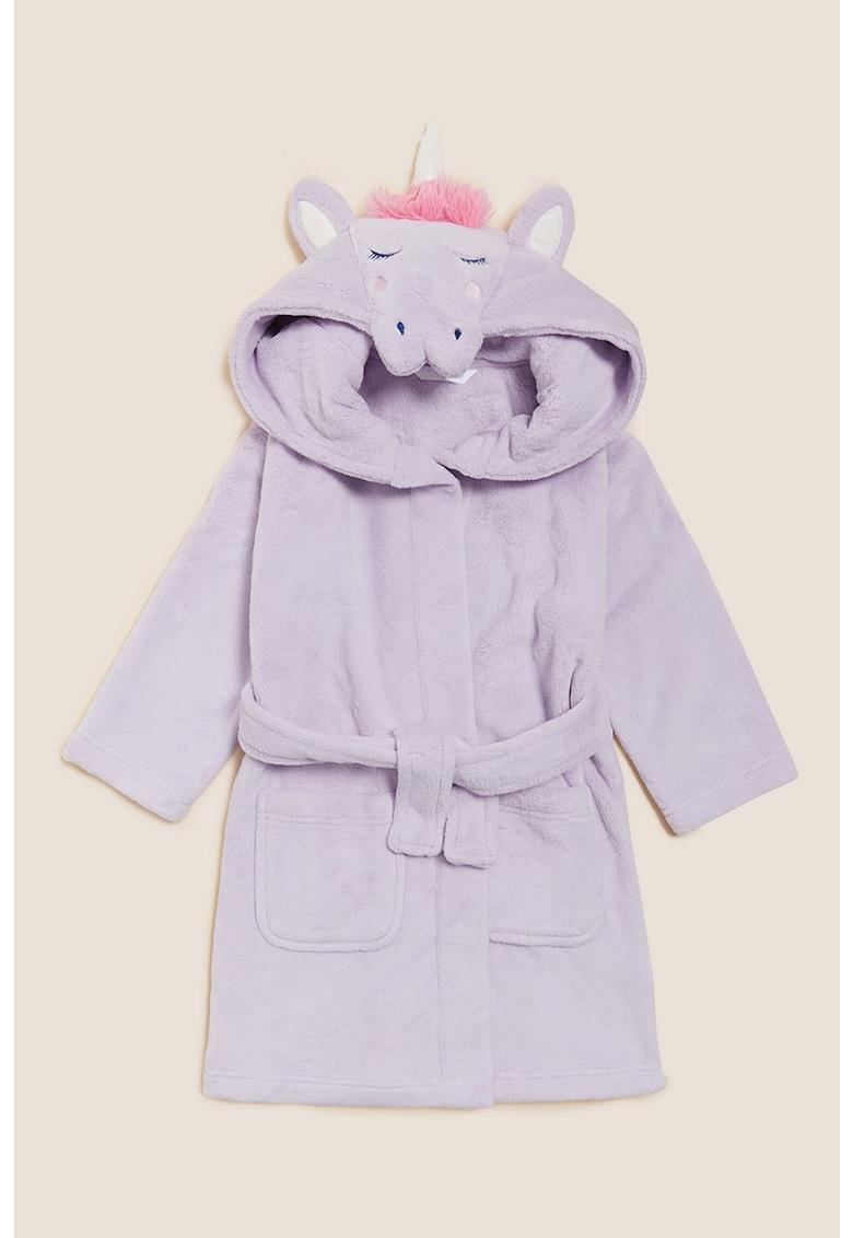 Halat din material fleece cu model unicorn
