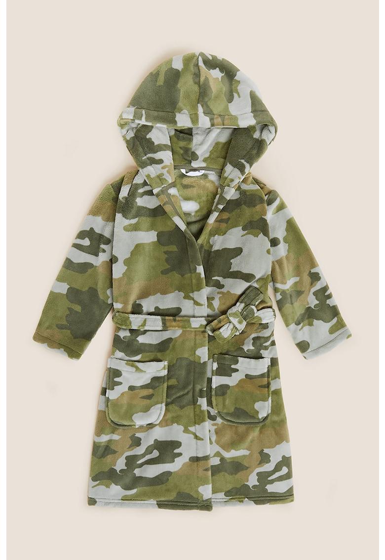 Halat din material fleece cu model camuflaj
