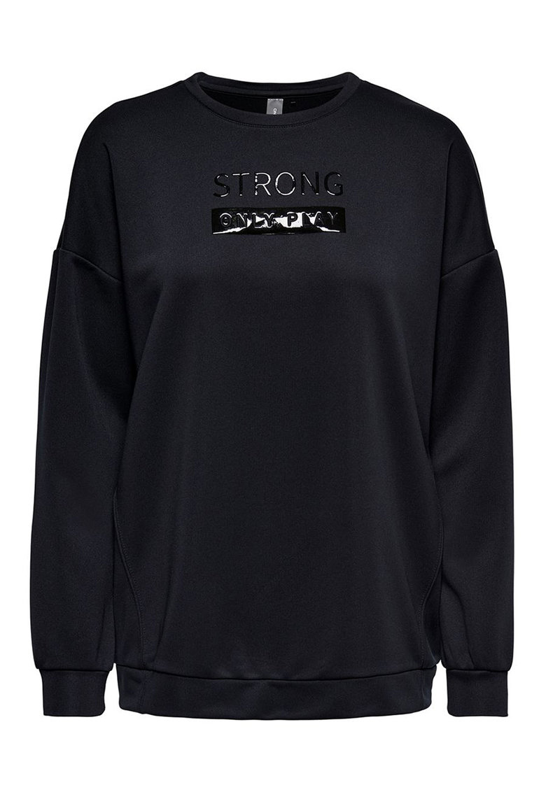 Bluza sport lunga cu imprimeu iconic