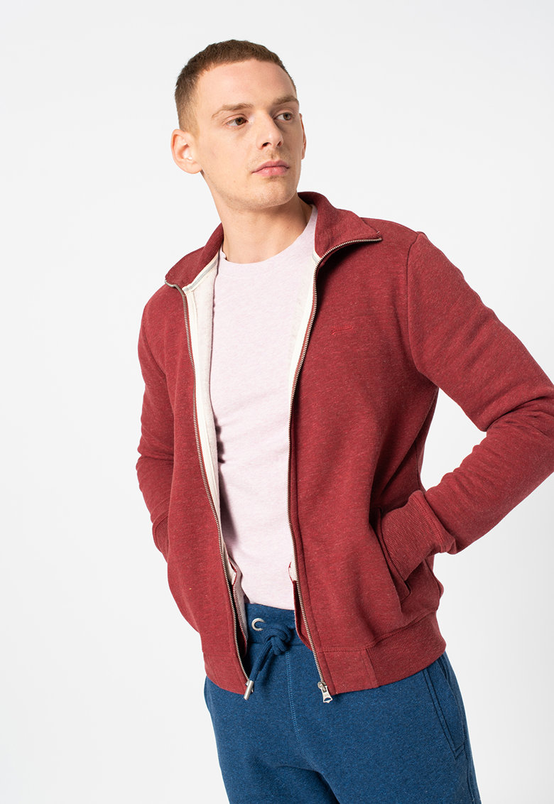 Bluza sport slim fit cu logo si fermoar Vintage de la SUPERDRY