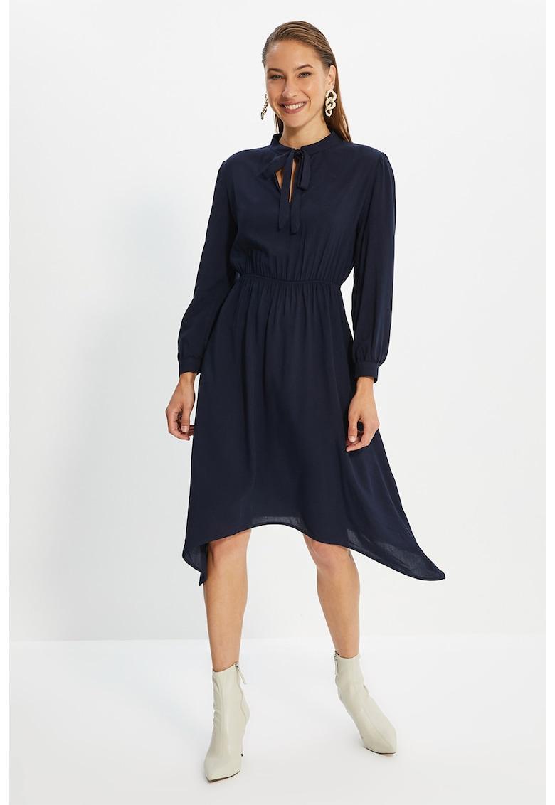 Rochie midi evazata cu talie elastica