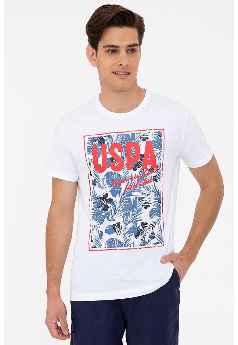 Tricou de bumbac cu imprimeu de la US Polo Assn