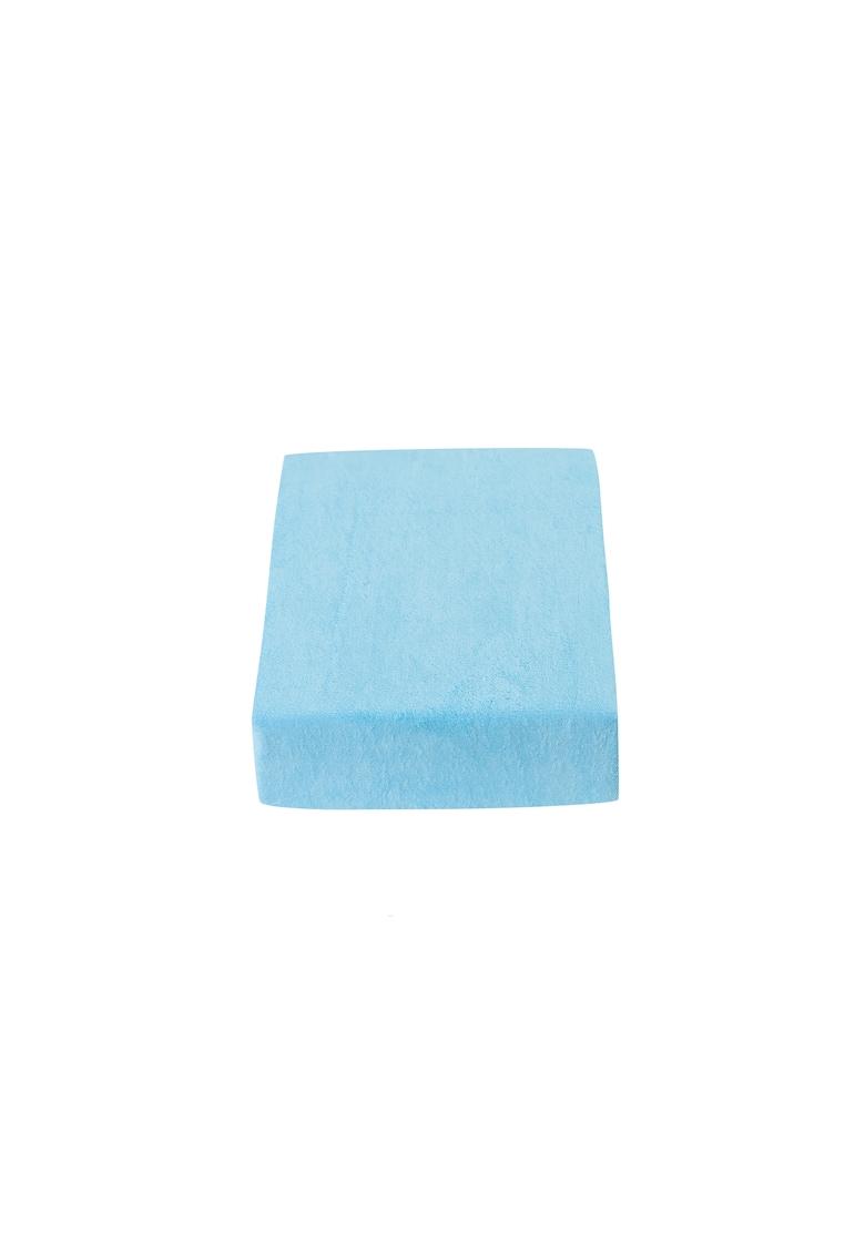 Cearceaf de pat cu elastic Versoft albastru 160x200cm imagine fashiondays.ro