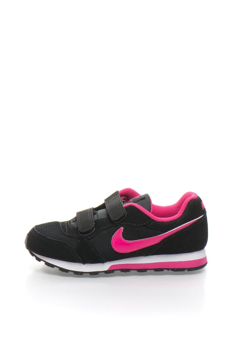 Nike Pantofi sport de piele peliculizata cu insertii de plasa Runner 2