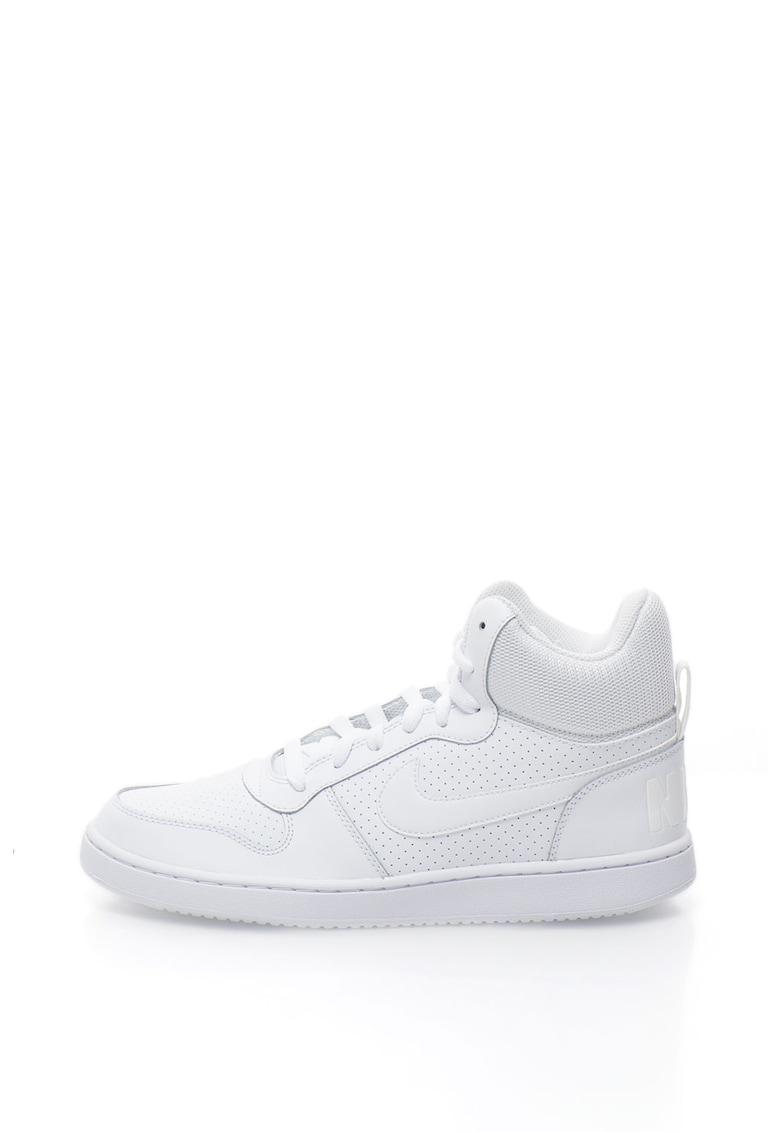 Pantofi sport mid-high cu garnituri de piele peliculizata Court Borough de la Nike