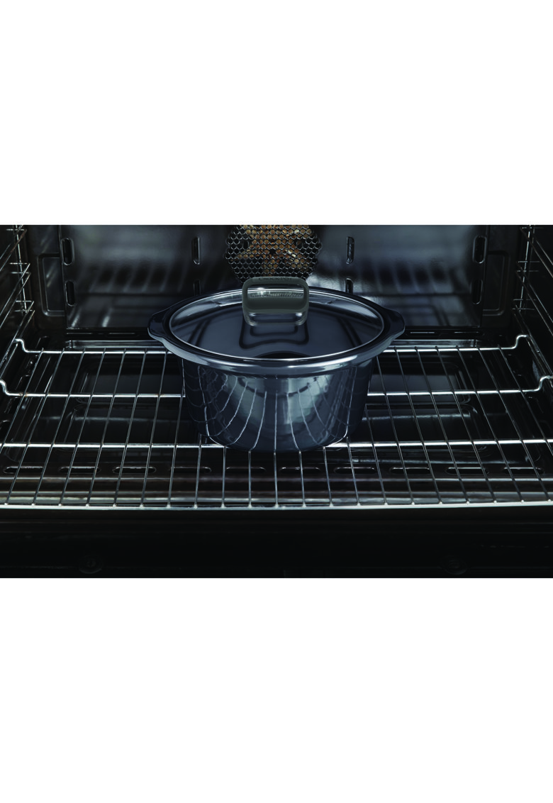 Crock-Pot Slow cooker   Stainless Steel - 3.5L - 210 W - Functie Pastrare la cald - Vas ceramica detasabil - 3 ustensile de gatit