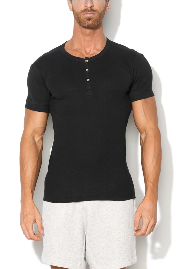 Tricou de casa negru din bumbac 300LS