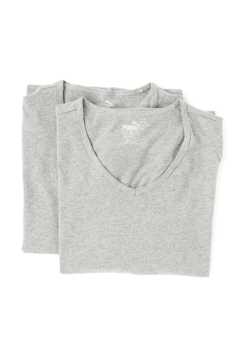 Set de tricouri regular fit gri melange - 2 piese thumbnail
