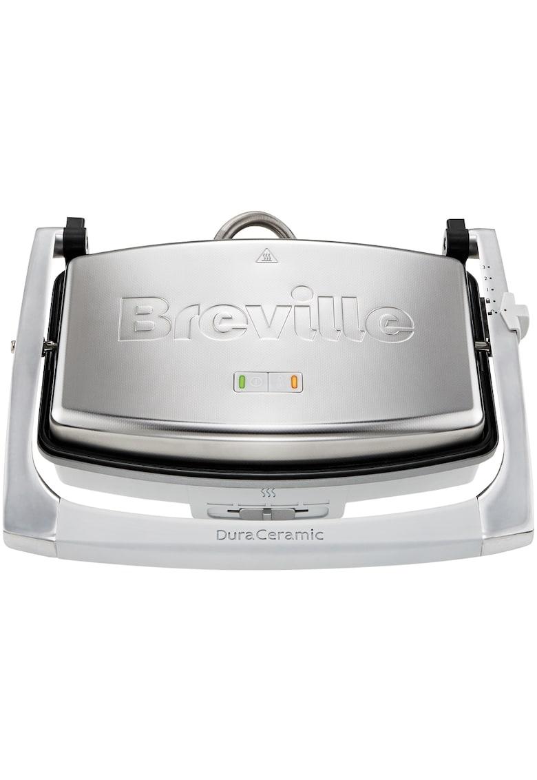 Breville Sandwich-maker  Panini  - 1000 W - DuraCeramic - 2-3 sandwich-uri - Argintiu