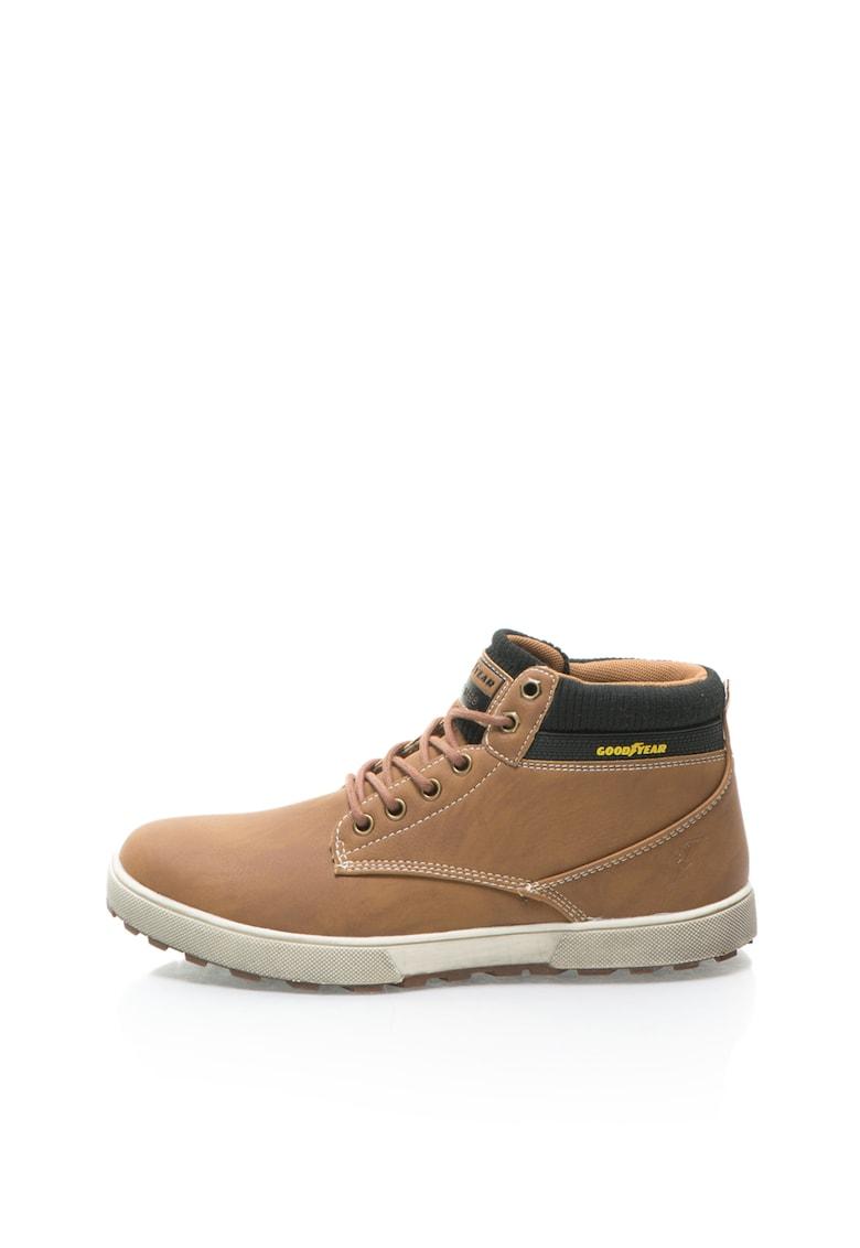 Pantofi casual maro cu negru cu sireturi imagine fashiondays.ro Goodyear