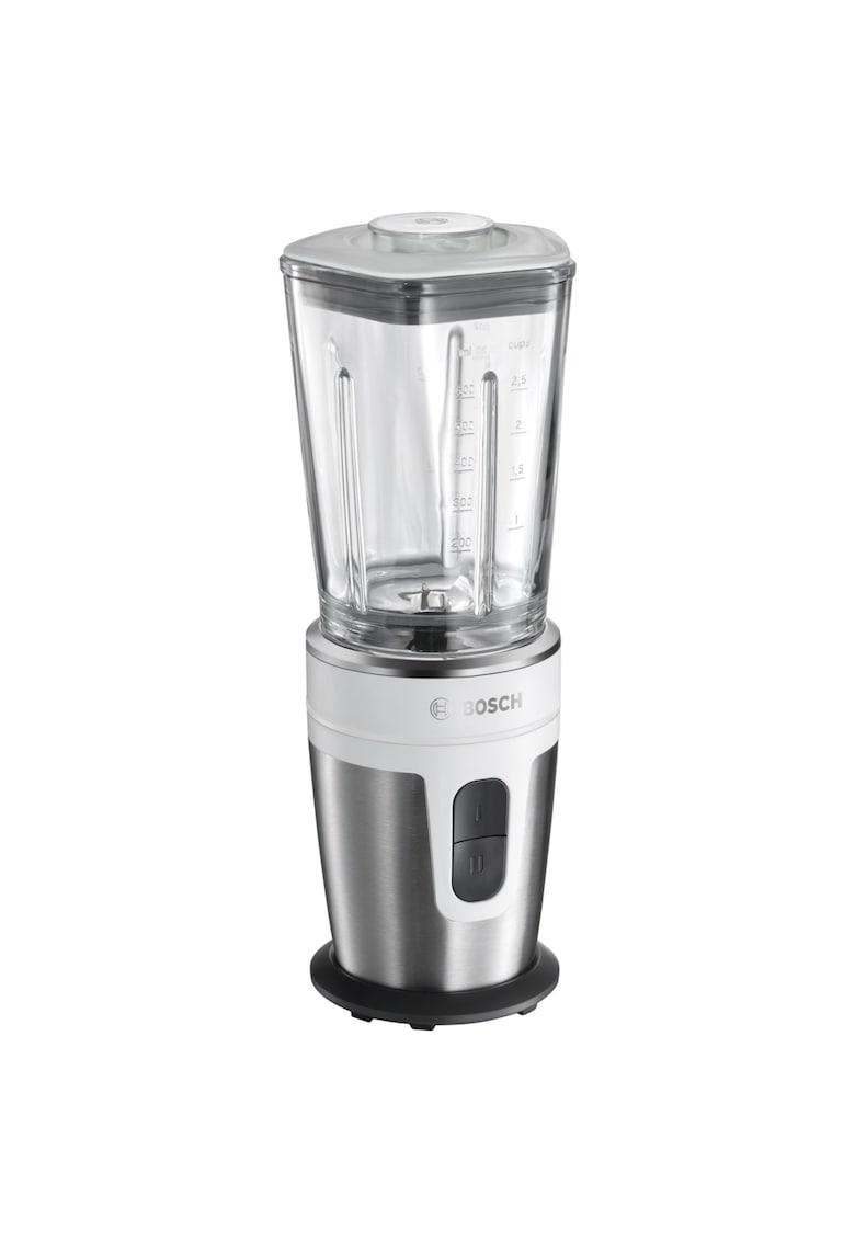 Blender - 21000 rpm - 350W - 0.6l - Vas de mixare din sticla ThermoSafe - 2 viteze - Accessorii din Tritan - Argintiu/Alb imagine fashiondays.ro BOSCH
