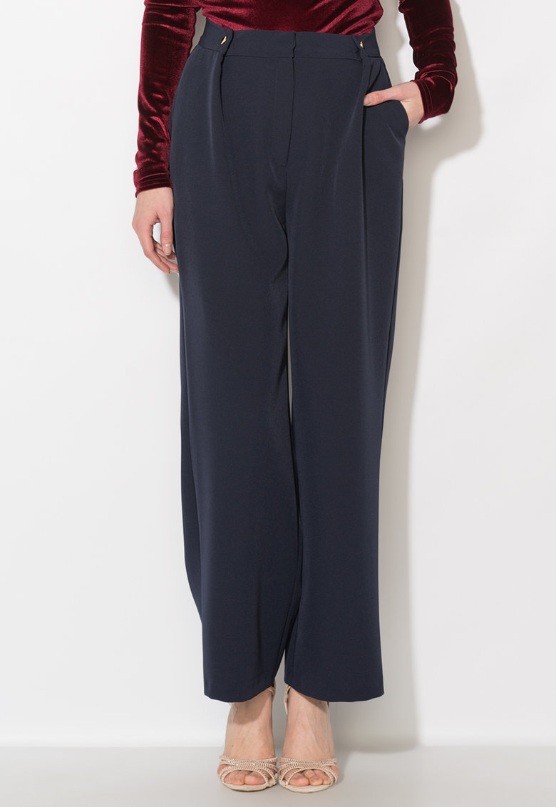 Pantaloni bleumarin inchis Zee Lane Collection