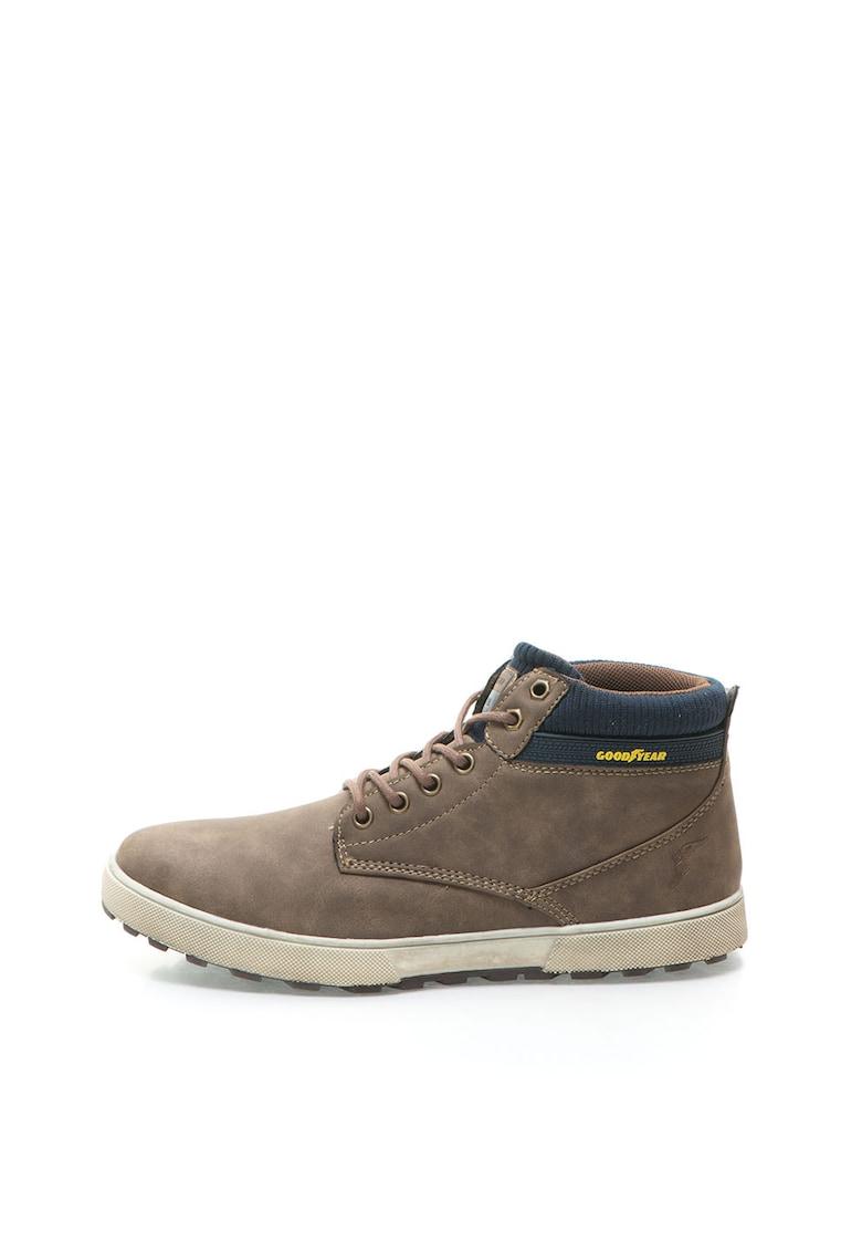 Goodyear Pantofi casual maro cu bleumarin cu siret