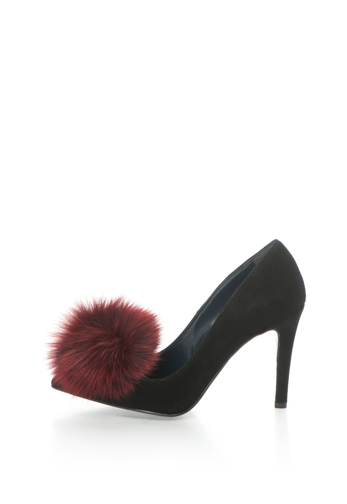 Zee Lane Pantofi stiletto negri de piele intoarsa Anne