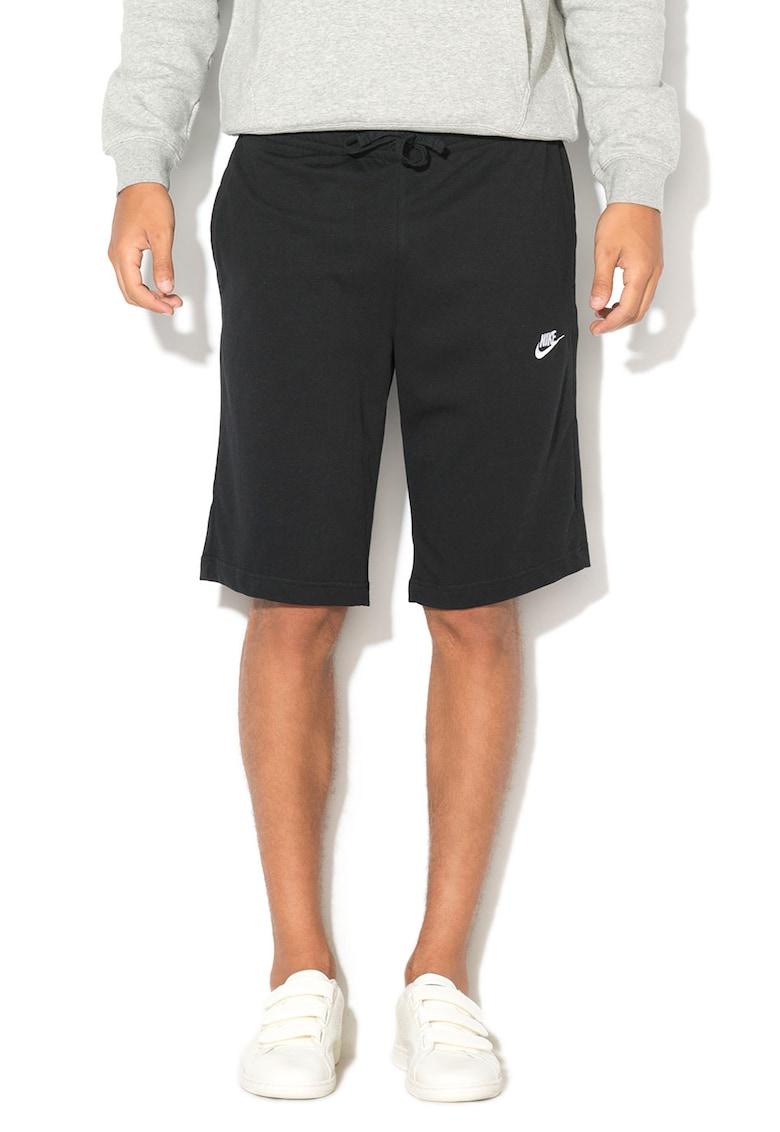Bermude sport cu logo brodat Nike