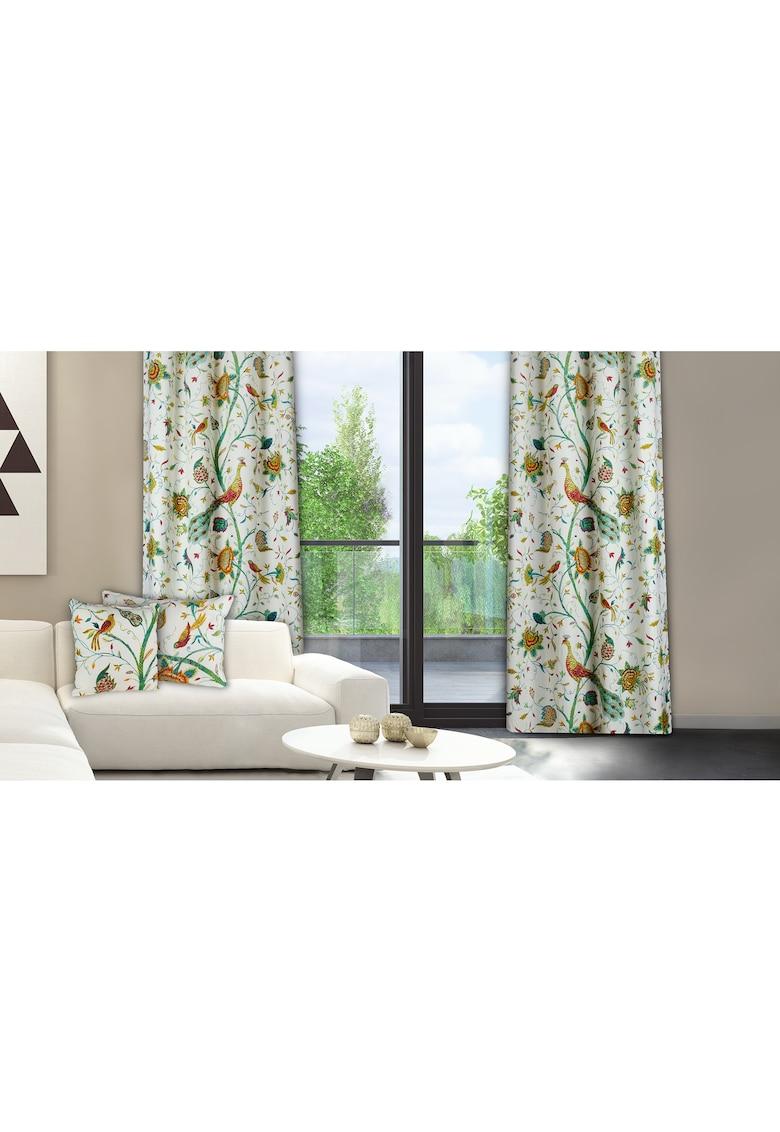 Set 2 draperii 140x270 cm - bumbac - Model pauni thumbnail