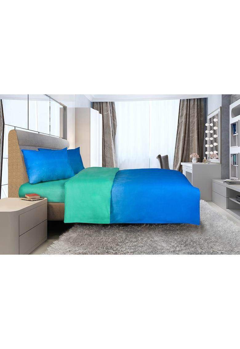 Lenjerie de pat pentru 2 persoane  bumbac – Model marin – 4 piese de la Heinner Home
