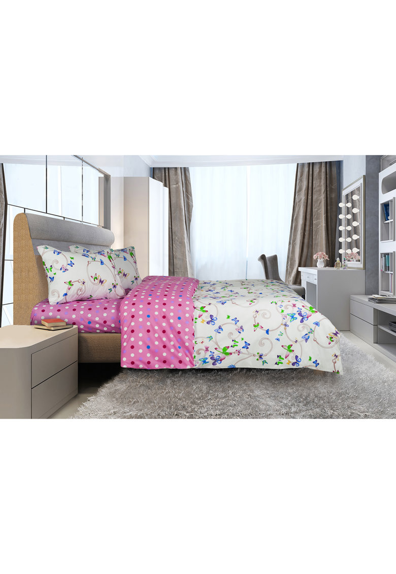 Heinner Home Lenjerie de pat pentru 2 persoane  100% bumbac - 4 piese