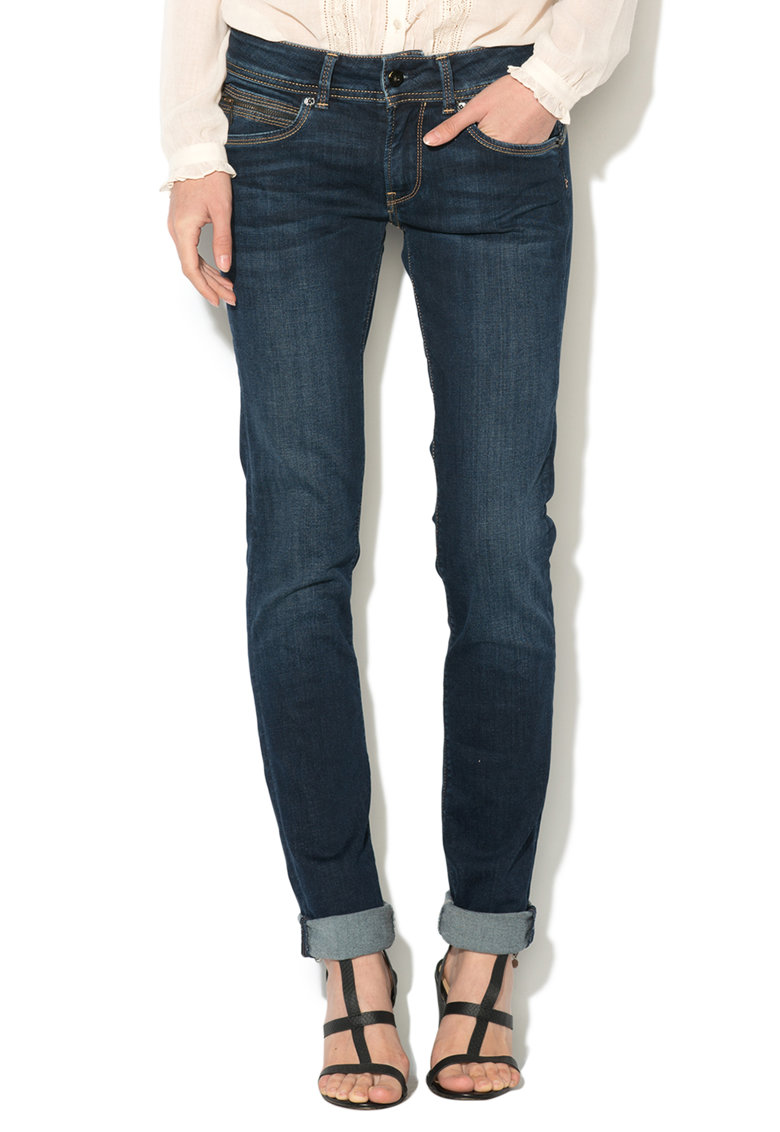 Blugi slim fit cu talie medie New Brooke Pepe Jeans London
