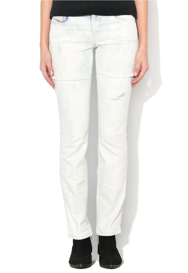 Jeansi drepti bleu decolorati Sandy