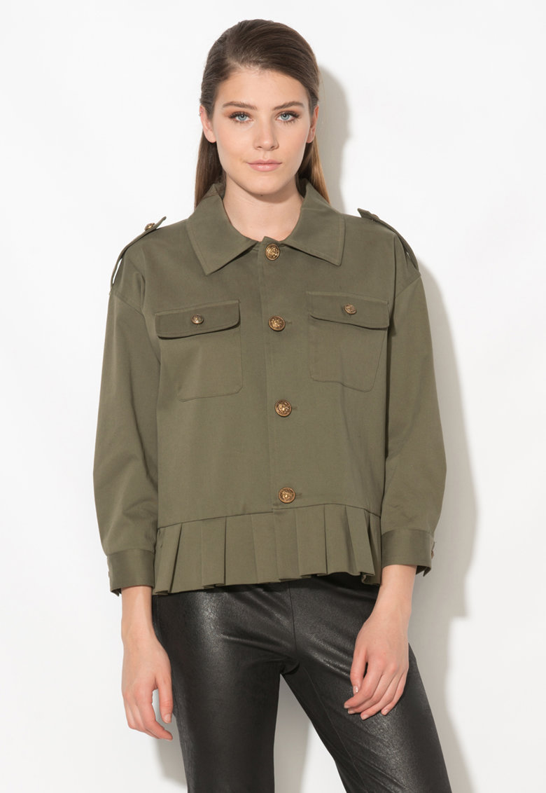 Zee Lane Collection Jacheta verde militar
