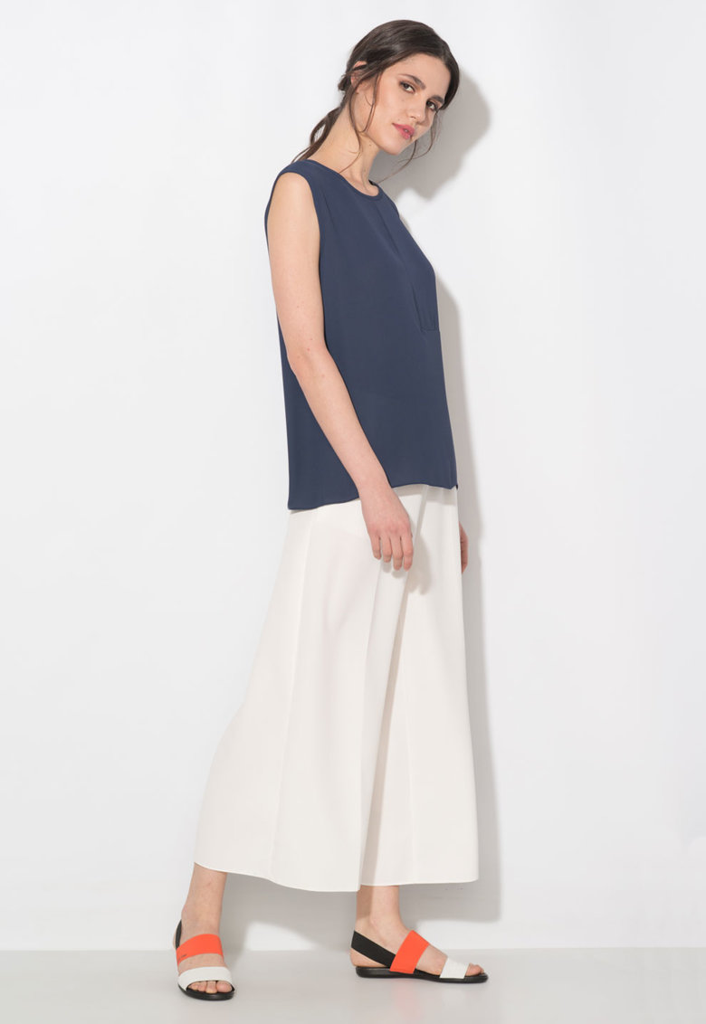 Bluza bleumarin cu o maneca Zee Lane Collection